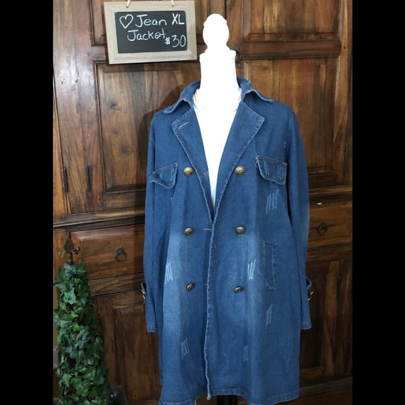 Jackets & Blazers - 🚨💥🎉Amazing Jean Jacket‼️ Knee length XL
